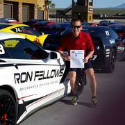 Dick Bowers after zooming around the track at Ron Fellows  Driving School.jpg