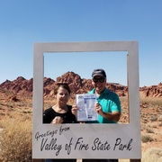 Nina and Preston Morgan taking  Vette Visions to Valley of Fire Nevada.jpg