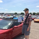 George Chamberlain with his 2003 anniversary Corvette at Bloomington Gold 2019.jpg